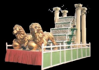 22 Trono Columna Leones